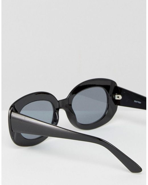 d7d7e576e7 Asos Square 90s Sunglasses in Black