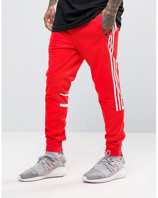 Adidas originals Crl84 Joggers In Red Bk5927 in Red for Men | Lyst
