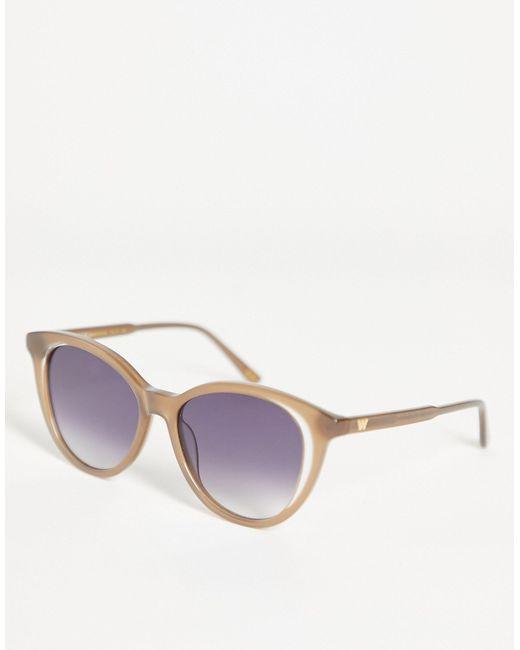 """Большие Солнцезащитные Очки """"кошачий Глаз"""" -коричневый Цвет Whistles, цвет: Brown"""
