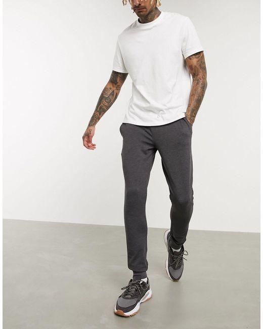Joggers super skinny antracite di ASOS in Gray da Uomo