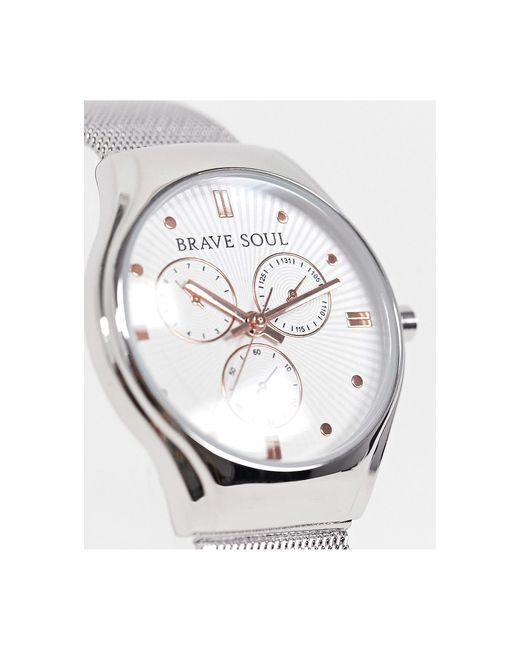 Часы -серебристый Brave Soul для него, цвет: Metallic