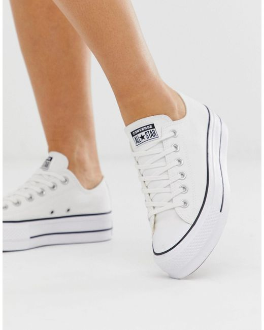 Белые Кеды На Платформе Chuck Taylor Ox-белый Converse, цвет: White