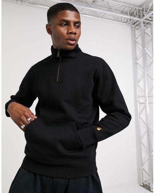 Черный Свитшот С Короткой Молнией -черный Цвет Carhartt WIP для него, цвет: Black