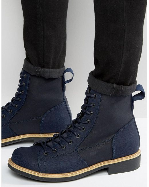 g star raw roofer denim boots in blue for men lyst. Black Bedroom Furniture Sets. Home Design Ideas