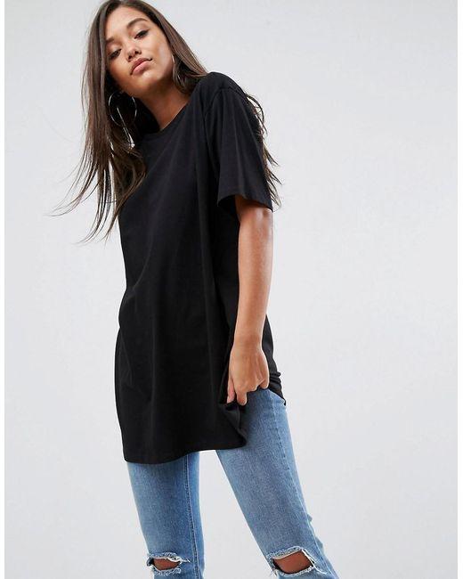 ASOS | Black Super Oversized Boyfriend T-shirt | Lyst