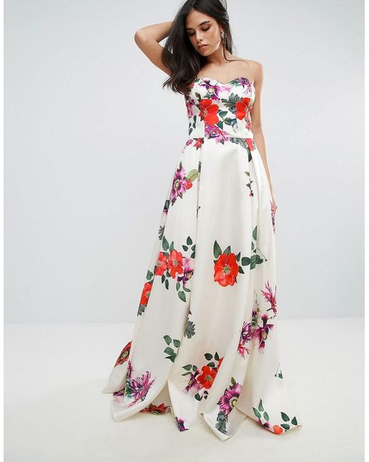 Lyst - Forever Unique Sleeveless Maxi Floral Prom Dress