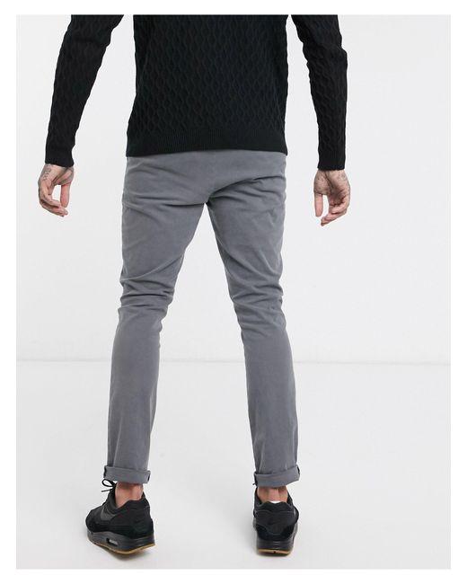 Серые Супероблегающие Чиносы ASOS для него, цвет: Gray