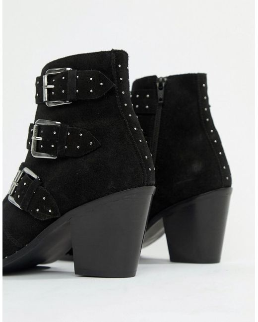 f3a92722bbc Asos Asos Asos Region Boots Ankle Wide Studded Lyst Black Suede Suede Suede  Fit in 1HwdqxvWF