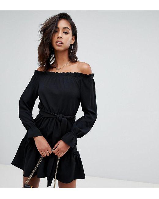90d6009fb419 Boohoo Off Shoulder Skater Dress In Black in Black - Lyst
