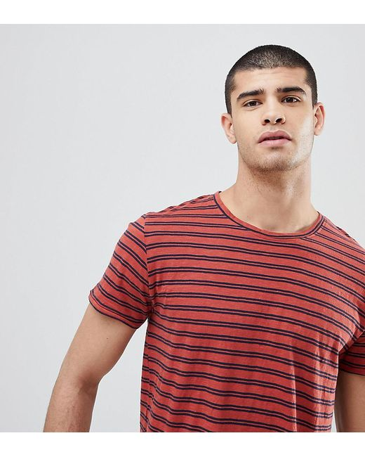 Nudie Jeans - Red Co Anders Double Stripe T-shirt for Men - Lyst