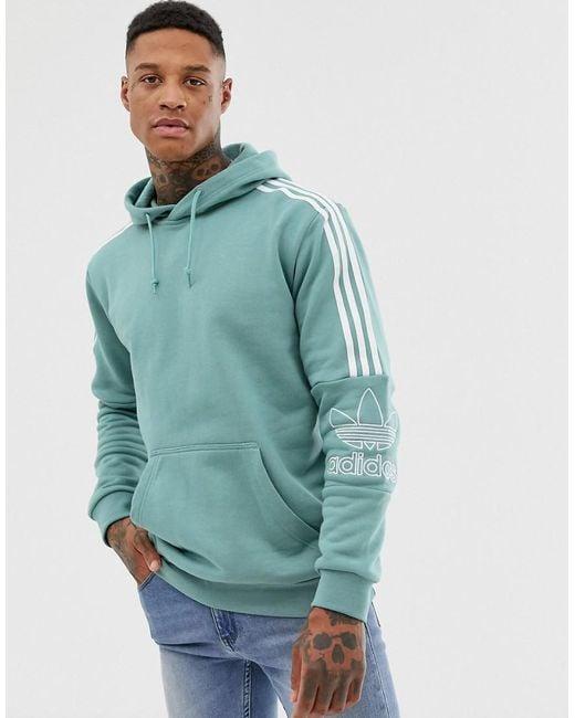 adidas long hoodie grün