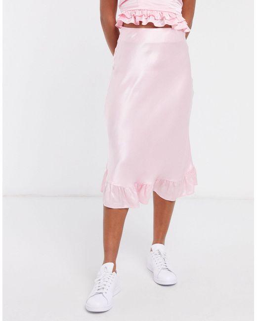 Розовая Юбка Миди С Оборкой -розовый Цвет & Other Stories, цвет: Pink