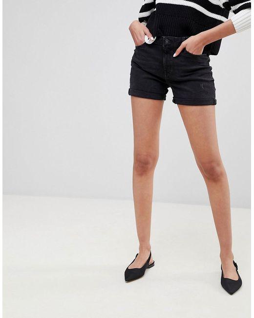 High Waist Denim Short - Black Esprit 6aAk9l