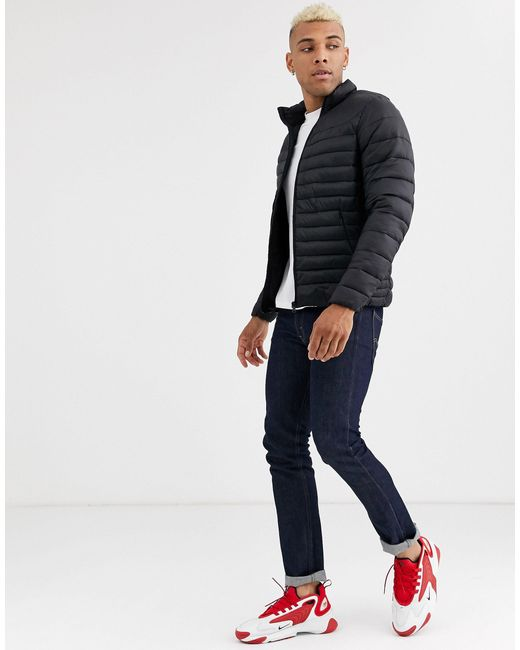 Pull&Bear Green Join Life Light Puffer Jacket for men