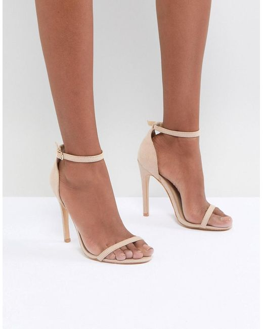 Truffle Collection - Natural Barely There Sandal - Lyst