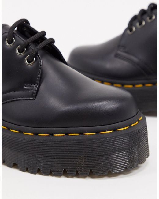 Ботинки На Массивной Подошве 1461 Quad-черный Dr. Martens, цвет: Black