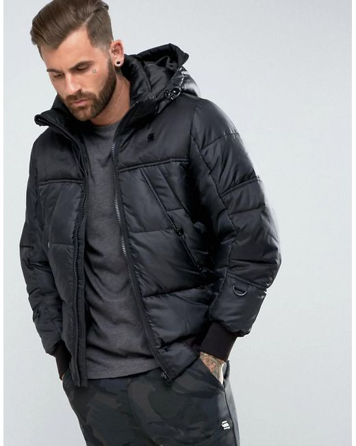 G-Star RAW | Black Whistler Hdd Puffer for Men | Lyst