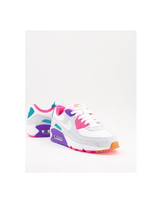 Air Max 90 - Baskets - et couleurs vives Caoutchouc Nike en ...
