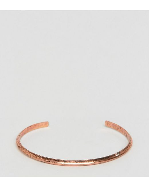 ASOS   Brown Plus Bangle In Burnished Brass for Men   Lyst