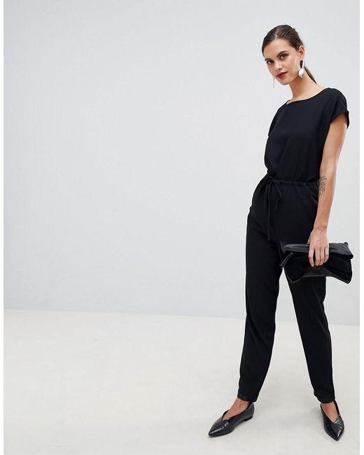 Y.A.S Black Cinch Waist Jumpsuit