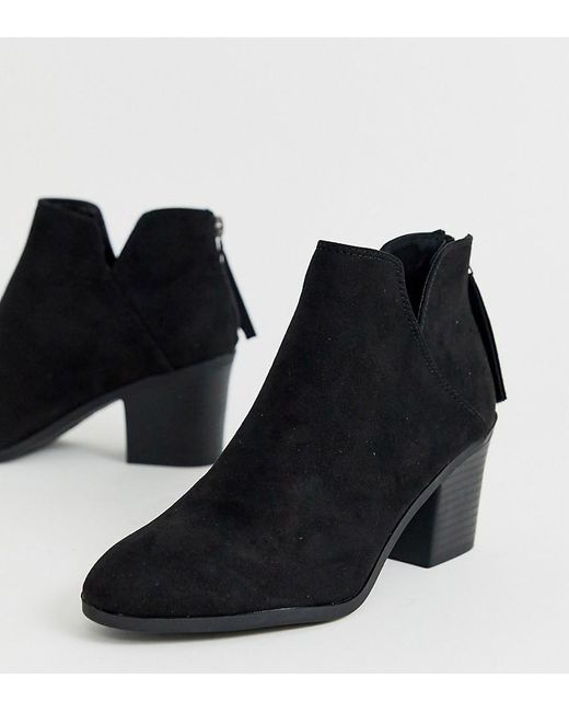 e75691bc174 Women's Low Cut Heeled Ankle Boots In Black