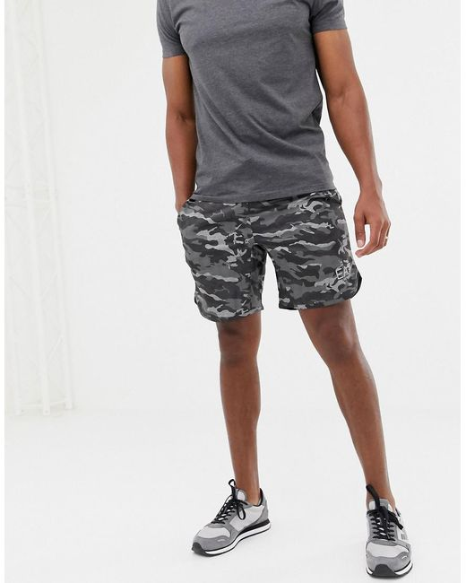 c5287dcf218 EA7 - Training Ventus 7 Camo Print Shorts In Gray Suit 5 for Men - Lyst ...