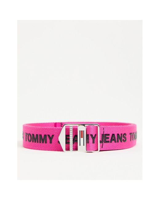 Розовый Ремень С Логотипом Еxplorer-розовый Цвет Tommy Hilfiger, цвет: Pink