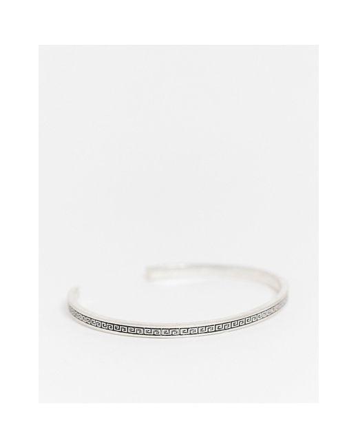 Серебристый Браслет С Греческим Орнаментом ASOS для него, цвет: Metallic