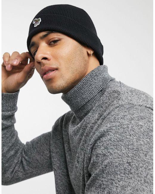 Bonnet à logo zèbre PS by Paul Smith pour homme en coloris Black