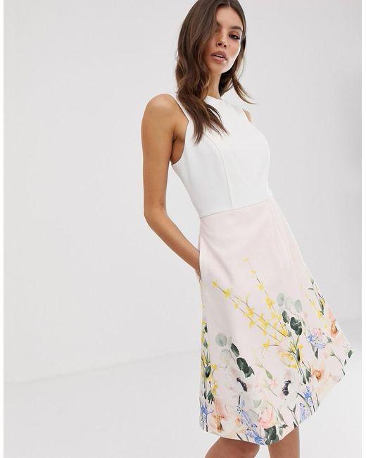 Платье С Принтом Kalla Ted Baker, цвет: White