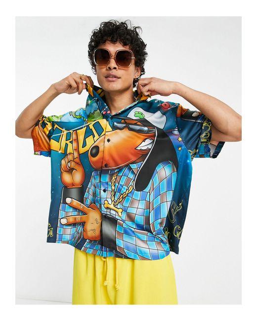 Snoop Dogg - Camicia squadrata oversize con stampa stile hip-hop di ASOS in White da Uomo