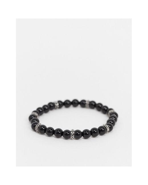 Браслет С Черными Бусинами И Сменными Подвесками Inspired-черный Reclaimed (vintage) для него, цвет: Black