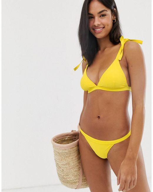 Желтые Плавки-бикини -желтый Lost Ink, цвет: Yellow