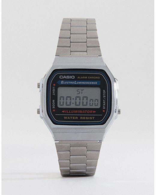 G-Shock | Metallic A168wa-1yes Digital Bracelet Watch | Lyst