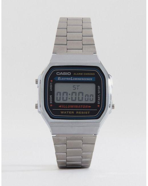 G-Shock | Metallic A168wa-1yes Digital Bracelet Watch for Men | Lyst