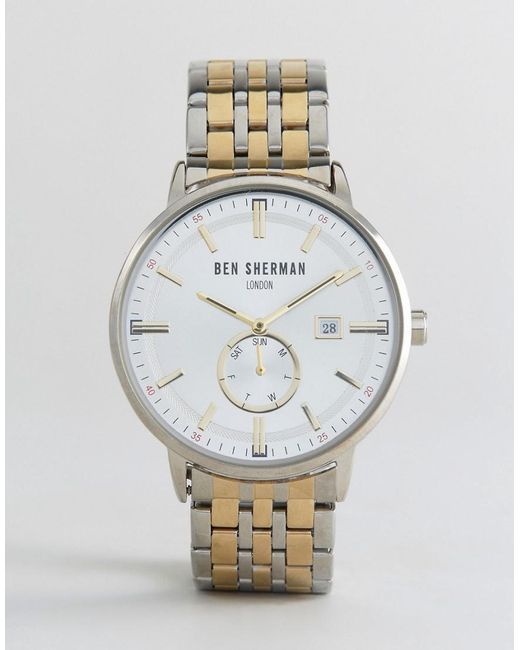 Ben Sherman - Metallic Wb071gsm Bracelet Watch In Mixed Metal for Men - Lyst