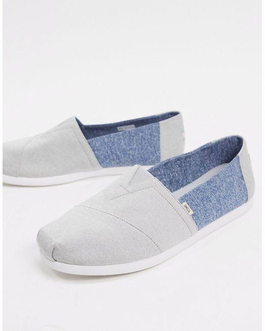 Серо-синие Эспадрильи Из Переработанных Бутылок -серый TOMS для него, цвет: Gray
