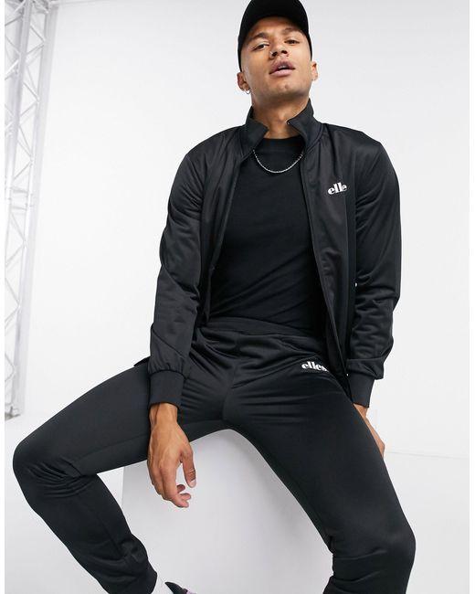 Ellesse – Trainingsanzug mit Reißverschluss in Black für Herren