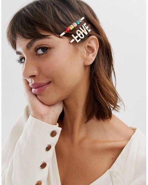 Набор Заколок Для Волос С Отделкой ALDO, цвет: Metallic
