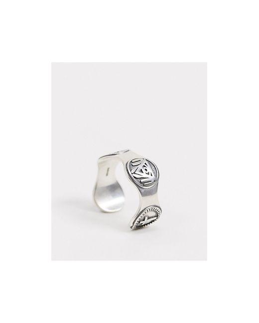 Серебряное Кольцо С Символом -серебряный Serge Denimes для него, цвет: Metallic