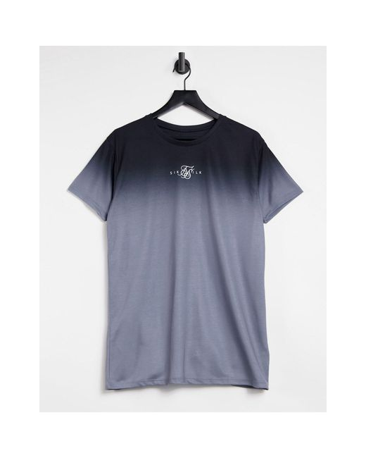 T-Shirt sfumata di Siksilk in Blue da Uomo
