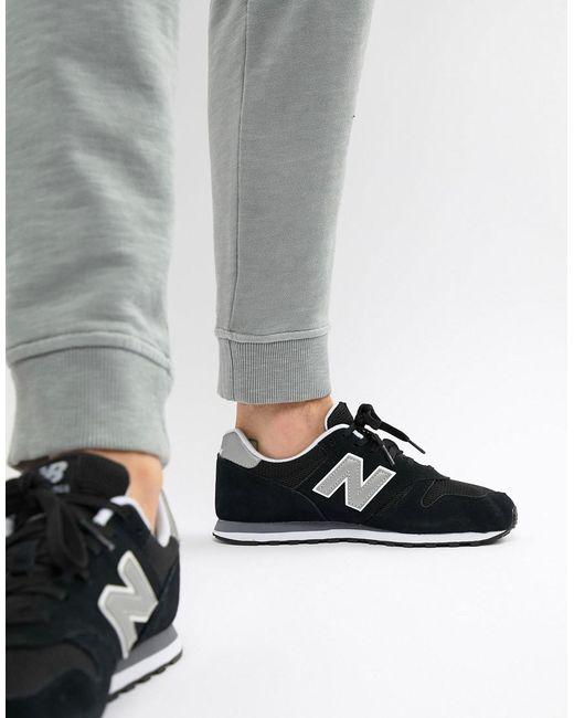 chaussures de séparation 5423e 82ee3 Men's Modern Classic 373 Trainers In Black Ml373gre