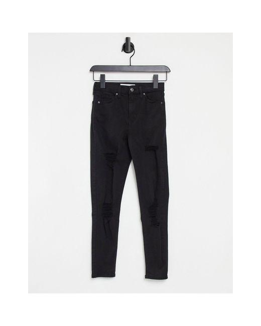 Jamie - Jeans skinny neri di TOPSHOP in Black