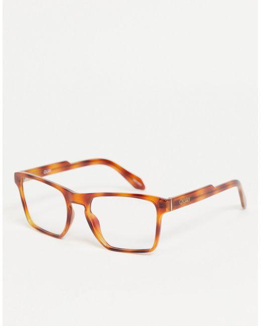 Женские Очки В Квадратной Черепаховой Оправе С Защитой От Синего Излучения Quay Irl-коричневый Цвет Quay, цвет: Brown