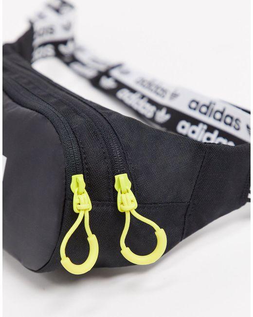 Черная Сумка-кошелек На Пояс Ryv-черный Adidas Originals для него, цвет: Black