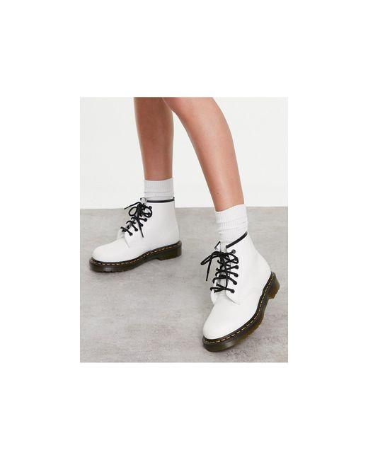 Белые Ботинки С 6 Парами Люверсов Dr. Martens 101-белый Dr. Martens, цвет: Multicolor