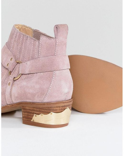 Office Atlas Blush Suede Western Boots best for sale cheap sale best wholesale 2014 online clearance order buy cheap big sale BlhWv