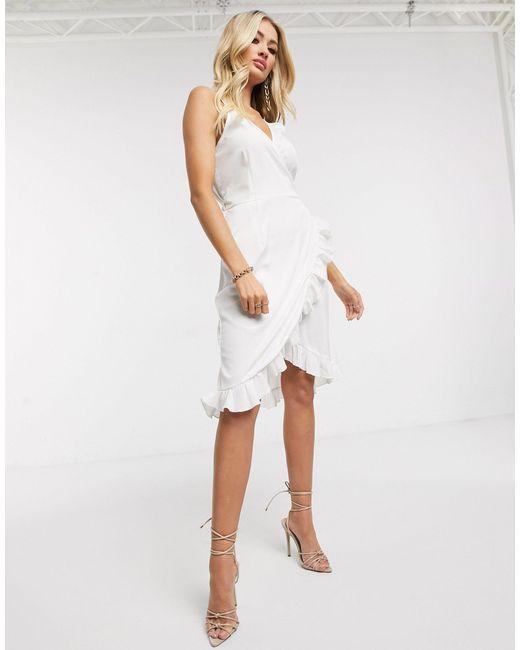 Белое Платье Мини На Бретельках -белый AX Paris, цвет: White