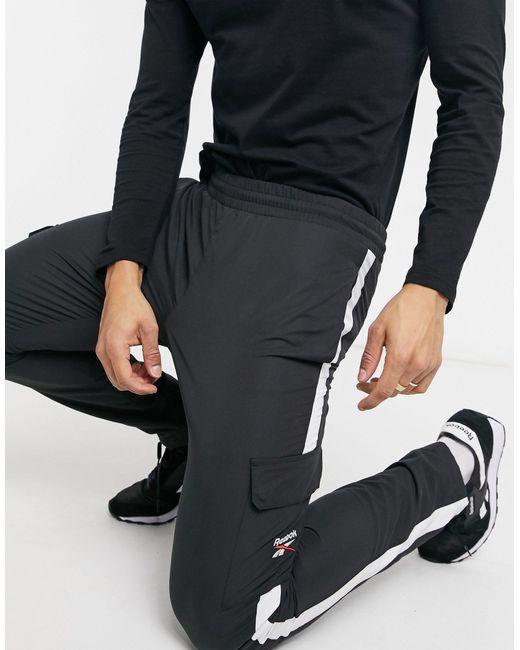 Reebok Black Classics Cargo Sweatpants for men