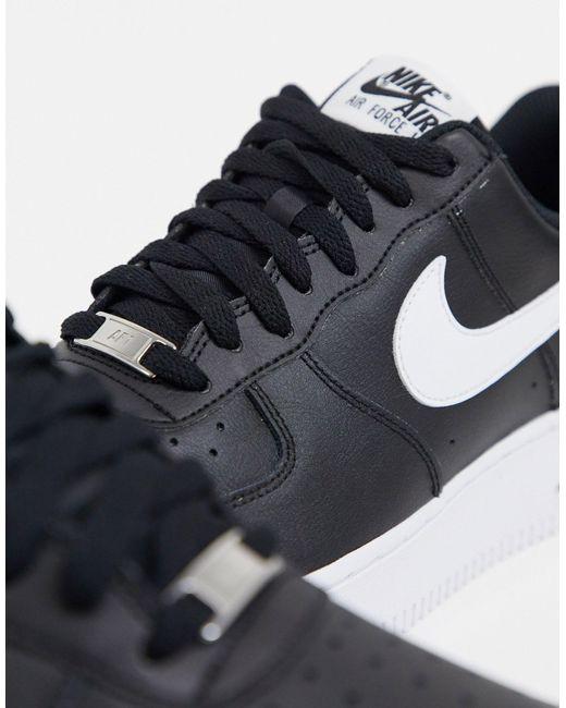 Air Force 1 '07, Baskets Homme Cuir Nike en coloris Noir - 86 % de ...